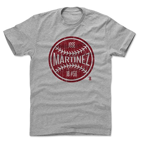 Ball Martinez (500 LEVEL Jose Martinez Cotton Shirt Large Heather Gray - St. Louis Baseball Men's Apparel - Jose Martinez St. Louis Ball R)