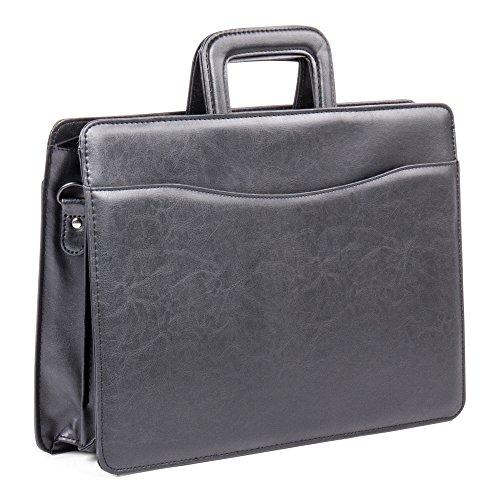 Bugatti Harrold Briefcase, Synthetic Leather, Black