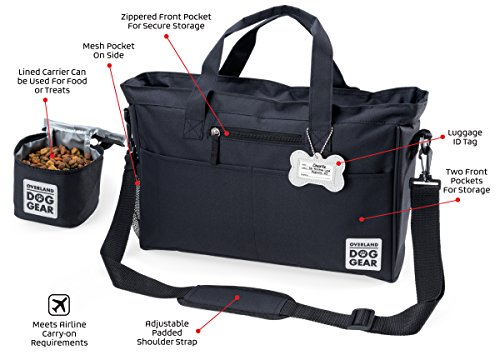 Overland Dog Gear Day Away Tote With Lined Food Carrier