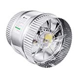 A1KINGDOM 6 inch 250 CFM Inline Duct Booster Fan, Low Noise Extra Large Ventilation and Long 6.2' Grounded Power Cord