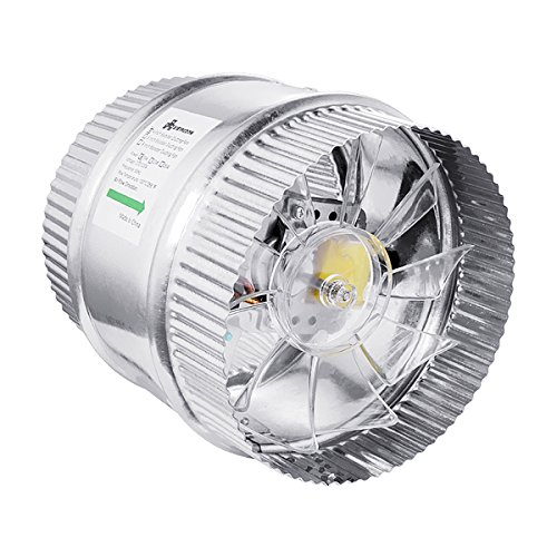 A1KINGDOM 6 Inch 250 CFM Inline Duct Booster Fan, Low Noise Extra Large Ventilation and Long 6.2' Grounded Power Cord from A1KINGDOM