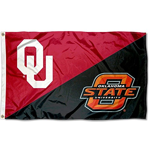 College Flags and Banners Co. OU vs. OSU House Divided 3x5 Flag