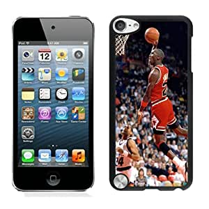 iPod Touch 5 Michael Jordan Black Screen Cover Case Durable and DIY Skin