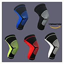 Delight eShop 1 pair Breathable Sports Elastic Training Kneepad, for Basketball Football Volleyball Hockey and Tennis, 5 optional color ...