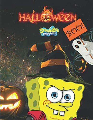 Spongebob Squarepants Halloween: coloring book 100 Jumbo Coloring Book halloween With High Quality Images For Kids Ages 4-8   8.5 x 11 in (21.59 x 27.94 cm)