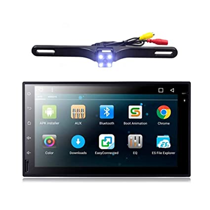 amazon com: ehotchpotch android 7 1 double din car stereo 2 din radio  backup camera touch screen in dash gps navigation with bluetooth for cars:  gps &