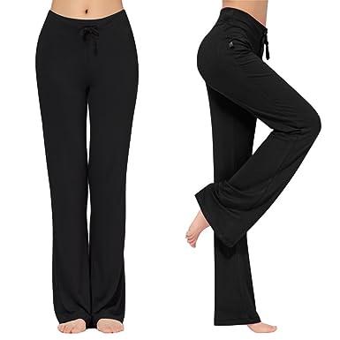 cb622f62d0747c KY-YPFW Women's Loose Drawstring Trouser Wide Leg Yoga Pants for Sporting  Straight Pants (