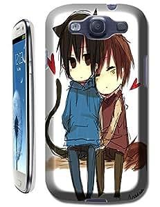 Cartoon Cute Boys Love Each Other Cell Phone Cases For Samsung Galaxy S3 i9300