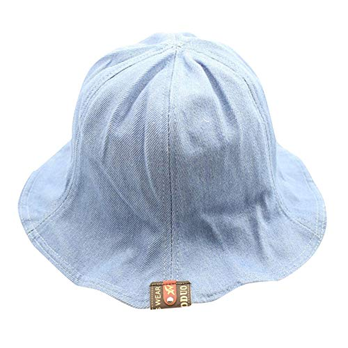 - ☀️☀️Womens Mens Summer Cotton Embroidered Unisex Fisherman's Adjustable Hats Gifts (Blue)