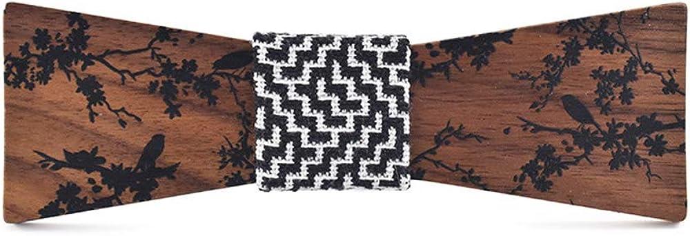Estilo De Moda Salida De Fábrica DEAN 2019 Nuevo estilo de las mujeres de los hombres de madera de madera pajarita de tinta pajarita de madera Vintage Literati Boda Casual Negro bXXkb1 8Cj0VF