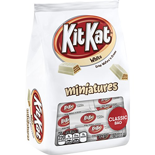 KIT KAT White Miniatures, 11 oz Stand Up Bag - 2 Pack (Pack of 2)