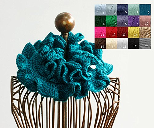 Hand Crochet Ruffle Cowl Scarf
