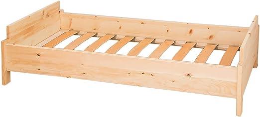 Cuna de madera de pino con somier superficie 140 x 70 cm ...