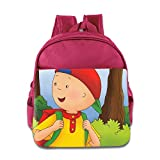 Kids Caillou School Backpack Fashion Children School Bags Pink