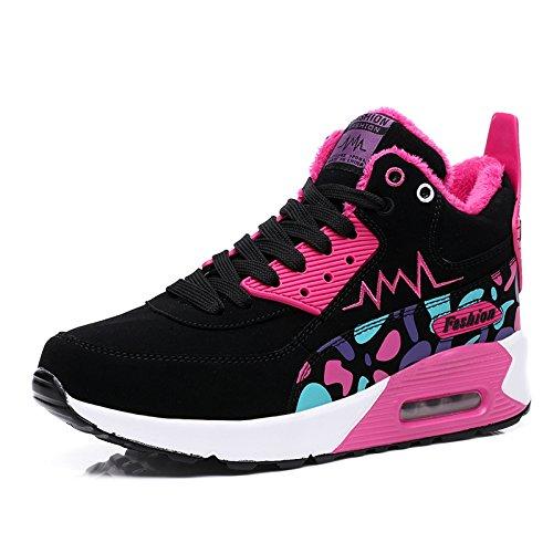 Nuevo Otoño rose Chica GUNAINDMX Black Pandilla Ocio Zapatos Zapatillas nbsp;Primavera red TOxwqwf5E
