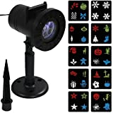 Sunnydaze Multi-Color LED Projector Lights with 10 Holiday Patterns for Indoor or Outdoor Seasonal Use
