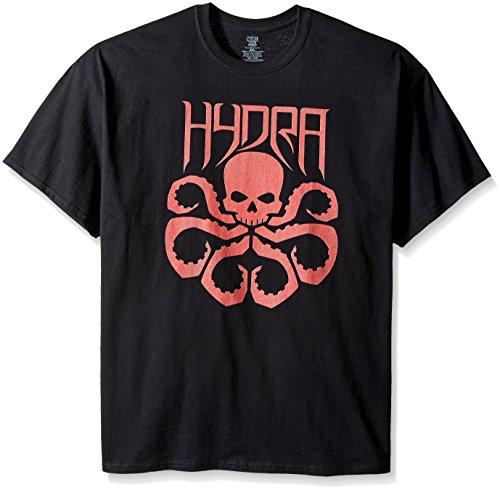 Marvel Men's Big-Tall Big and Tall Hydra Logo T-Shirt, Black, - T Marvel 6x Shirts