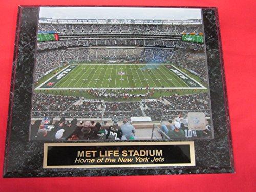 - New York Jets Met Life Stadium Engraved Collector Plaque w/8x10 Photo