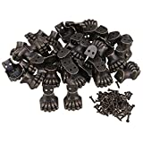 Mxfans 100pcs Antique Corner Protector for Wooden Jewelry Box Elephant Foot Type