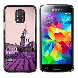 LECELL -- Funda protectora / Cubierta / Piel For Samsung Galaxy S5 Mini, SM-G800, NOT S5 REGULAR! -- Nature Purple Flower Castle --