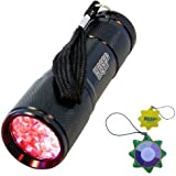 HQRP Torcia a LED, luce rossa 650 nm per astronomia / aviazione / osservazioni notturni / fotografie di notte + HQRP Misuratore del sole