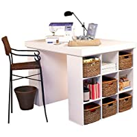 Venture Horizon Project Center Desk with 2 Bookcase Sides-White