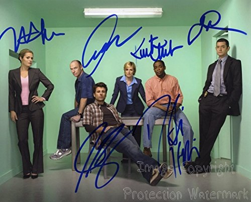 Psych Cast Roday, Hill, Omundson, Bernsen, Lawson and Nelson Signed Autographed 8x10 Inch Photo Print