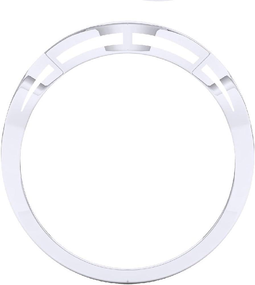 14K Gold Round Cut Diamond Ladies Stackable Anniversary Wedding Contour Band Guard Ring 0.15 Carat ctw