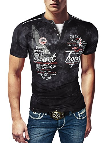 4a960ce8d5e923 Violento Herren Designer T-Shirt Poloshirt Baumwolle Party Sommer Hemd Slim  FIT  Amazon.de  Bekleidung