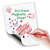 "#9: Magnetic Dry Erase Sheet | White Blank 12"" x 16"" Magnet for Refrigerator and More