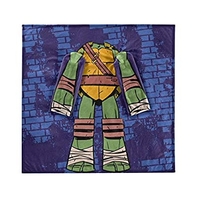Nickelodeon Youth Comfy Throw Blanket with Sleeves Teenage Mutant Ninja Turtles, Being Leo, Multi Color: Home & Kitchen