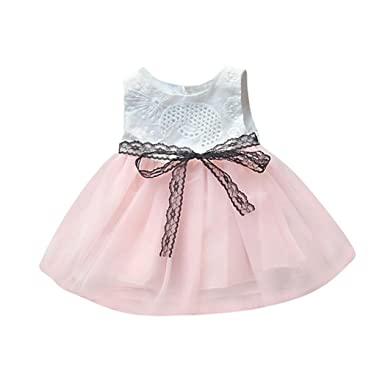 acd6440e9 Amazon.com  Moonker Infant Newborn Baby Girls Dresses Button ...