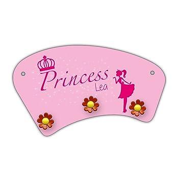 Wand Garderobe Mit Namen Lea Und Schonem Prinzessin Motiv Fur
