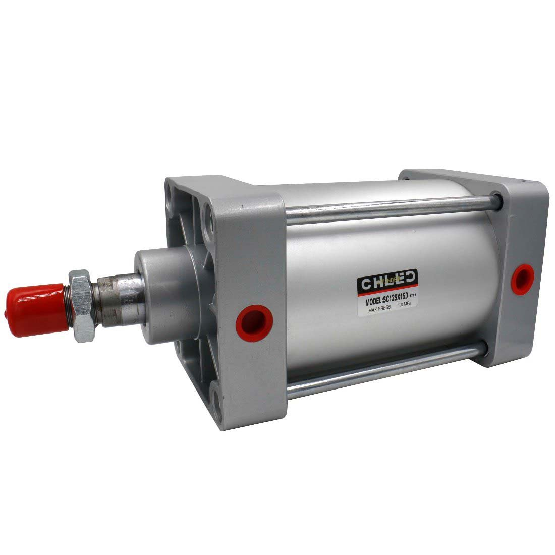 Baomain Pneumatic Air Cylinder SC 125 x 150 PT1/2; Bore:125mm, Stroke:150mm; Screwed Piston Rod Dual Action