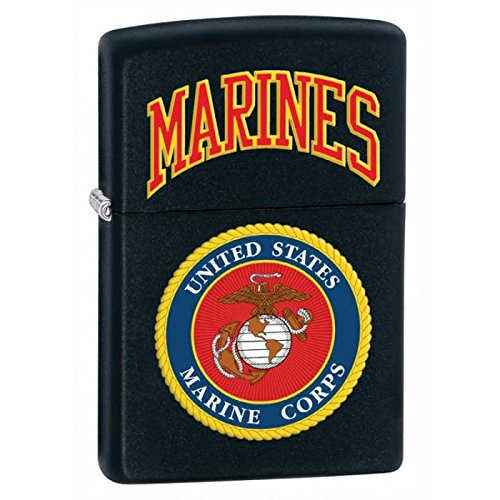 Gifts Infinity® Personalized U.S. Marines Black Matte LIGHTER - Free Engraving by GIFTS INFINITY