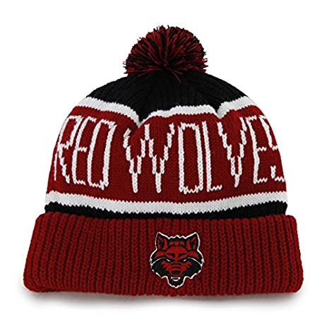 the latest ce3ff 5cb9a Arkansas State Red Wolves Red Cuff  quot Calgary quot  Beanie Hat with Pom  - NCAA
