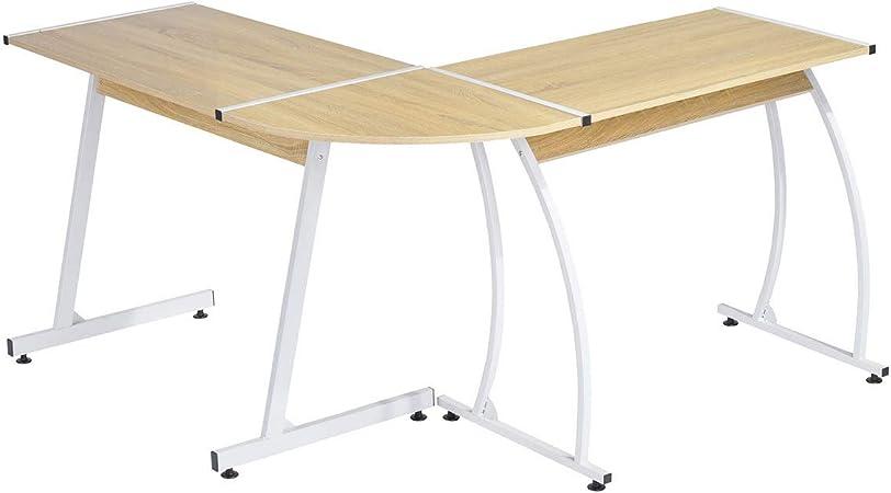 Bureau Informatique d/'angle Forme de L 170x136x74 cm Table d/'Ordinateur Travail