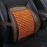 RUIX Summer Car Auto Seat Office Chair Lumbar Support Cushion Pad Wood Beads Massage Lumbar Pillow