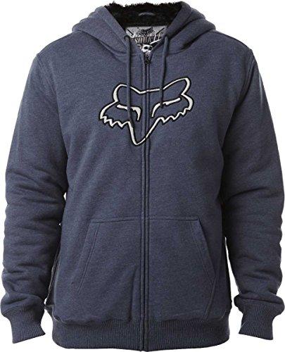 Fox Men's Konstant Sasquatch Zip Fleece Sweatshirt, Pewter, Small ()