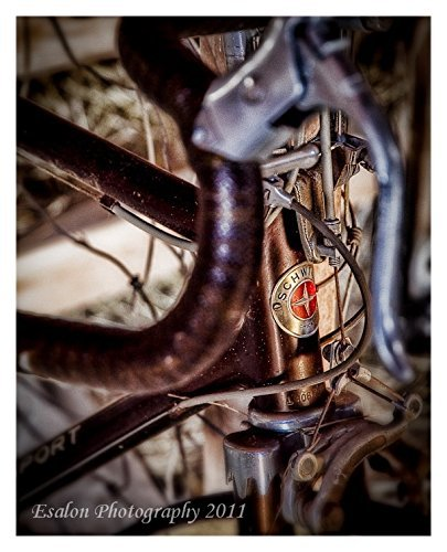 Old 1972 Schwinn Super Sport bicycle original color print brown cycling classic