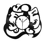 VinylShopUS Theatre Mask Vinyl Wall Clock Record Decorative Unique Gift Bedroom Decor | Unique Gift For Anniversary | Home Decoration Decor