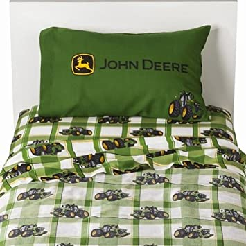 John Deere Farming Tractor 3 Piece Twin Sheet Set By Jay Franco