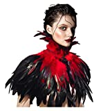 L'vow Black Gothic Victorian Natural Feather Cape