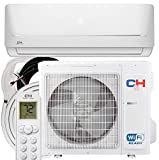 12,000 BTU 115V Ductless Mini Split Air Conditioner Heating and Cooling 17.2 SEER with 16ft Installation kit WiFi
