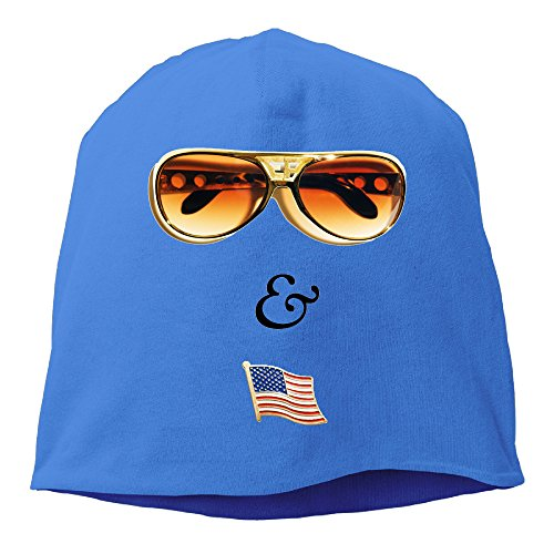YUVIA Elvis & Nixon Men's&Women's Patch Beanie SkatingRoyalBlue Hats For Autumn And Winter (Halloween Costume Stores San Jose)