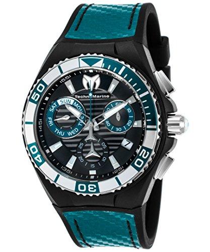 technomarine-mens-technomarine-blue-silicone-band-steel-case-quartz-black-dial-analog-watch-115177