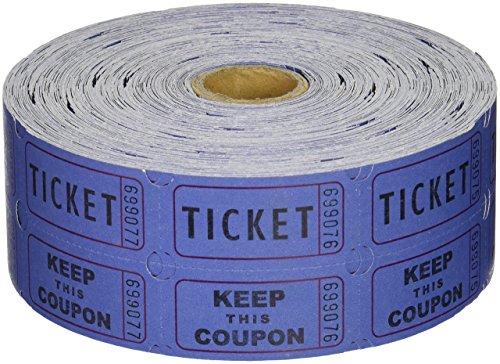 2000 Tickets 50/50 Double Stub Raffle Tickets Split The Pot Roll Fund Raiser Festival