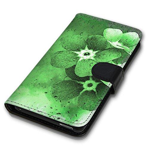 Wallet Book Style Flip Handy Tasche Case Schutz Hülle Schale Motiv Etui für Apple iPhone 4 / 4S - Design Flip MVD267