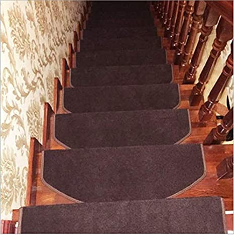 N-A Juego de Alfombrillas para escaleras Alfombrillas para escaleras Alfombrilla Rectangular Antideslizante Alfombra Alfombra 7 Piezas 65Cmx24Cmx3Cm Marrón: Amazon.es: Deportes y aire libre