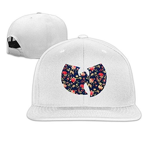 Unisex,Designer White Wu Tang Clan Flora Shirt Hip Hop Raglan Jersey Baseball Hat Baseball Cap Hat